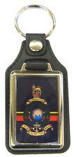 Royal Marines Leather Medallion Key Ring / Keyring