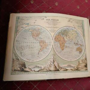 Antique Victorian Atlas Of Maps school atlas A Keith Johnson