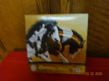 RUNNING WILD PAINT HORSES JIGSAW PUZZLE 750 PC MASTER PIECES NEW SEALED