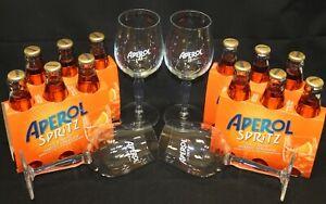 Aperol Spritz Aperitivo 1919 Set 12 x 17,5 cl fertig + 4 Original Glas Gläsern