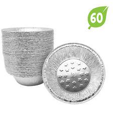 Fig & Leaf (60 Pack)  5-Inch Pie Pans Tart Pan Tin Plates Aluminum Foil