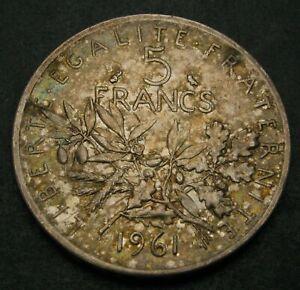 FRANCE 5 Francs 1961 - Silver - VF/XF - 1488