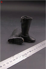 """1/6 Scale WWII German Officer Soldier Black Long Boots Model B for 12"""" Figure"""