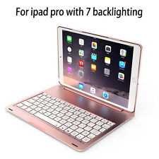 Aluminum iPad pro 10.5 Bluetooth 3.0 Keyboard Case Cover With 7 Color Backlit