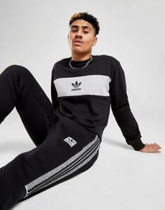 New adidas Originals Men's Colour Block Crew Sweatshirt from JD Outlet