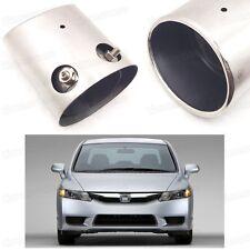 Car Exhaust Muffler Tip Tail Pipe End Trim for Honda Civic Sedan 2006-2011 #2081