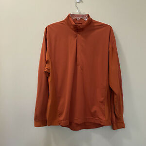 NIKE GOLF Men Orange 1/4 Snap Long Sleeve Jacket Size XL