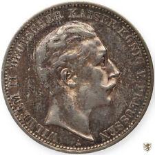 PREUSSEN, Wilhelm II., 3 Mark, 1910 A, Jg. 103, sehr schön