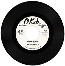 "MAJOR LANCE  ""INVESTIGATE""     60's CLUB CLASSIC   LISTEN!"