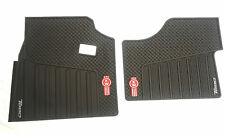 Kenworth T680 OEM Black Rubber Floor Mats W/Logo For 2013-2018 - 2PC All-Weather