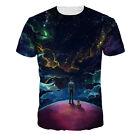 Hombres Mujeres Galaxia 3D Estampado mangas cortas Deporte Ocio Camiseta T-Shirt