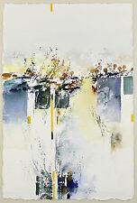 Francis Méan: Farb-Komposition II. Aquarell auf schwerem Bütten