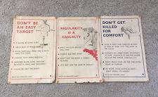 Original Vintage Rhodesian Army Salisbury Police Posters A B C