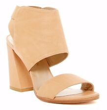 NIB $465 Stuart Weitzman Women's Inpower Leather Cuffed Sandal Peccom Tan Sz 8.5