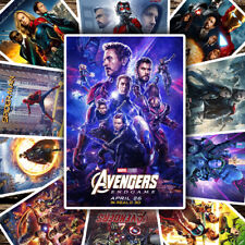 MARVEL AVENGERS MOVIE POSTERS A4 A3 A2 Photo Poster Film Wall Decor Fan Art