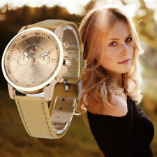 Women's Ladies Fashion Roman Numerals Faux Leather Analog Quartz Watch Watches