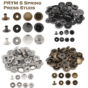 PRYM Non-sew Press Fasteners Poppers Studs Jersey Anorak Choose Size Quantity