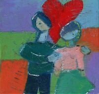 Hinkle LOVE modern OIL PAINTING original art abstract marriage contemporary