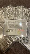 10 Stück 50x 1 GRAMM SILBERBARREN Silbertafel ESG Valcambi 500g Silber Barren