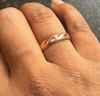 Beautiful Protecton Amulet Pure Copper Punjabi Hindu Sikh Ring Cut Design Challa