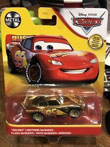 """2021 Disney Pixar Cars Metal """"GOLDEN"""" Lightning Mcqueen"""