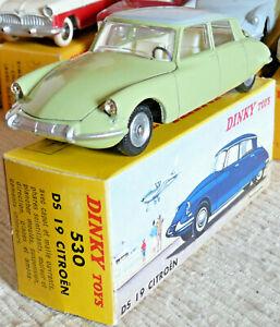 Sublime Vrai Dinky toys Meccano France Citroen DS19 type 63 530 + boite origine