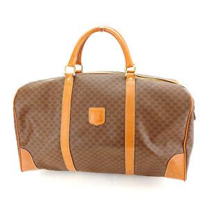 Celine Boston bag Macadam Brown Woman Authentic Used Y4414
