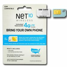 New NeT 10 Wireless Dual Sim Card Gsm Compatible Bring Your Own Phone Set Of 5