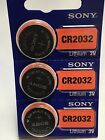 3 SONY CR2032 DL2032 CMOS Lithium 3V Watch Battery Exp 2027 USA seller