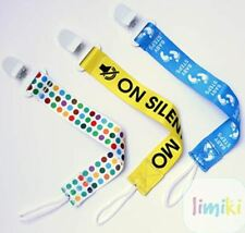 Pacifier Clip 3-Pack, Binky Holder for Babies Universal Soothie Strap/Leash