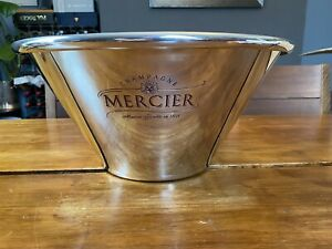 Large Metal Mercier Champagne Ice Bucket