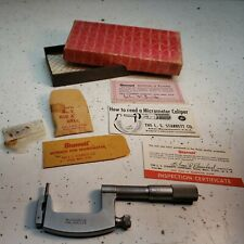 Starrett No220 1 2 Inch Multi Anvil Outside Micrometer 001 Withfriction Thim