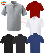 Mens Polo Shirt Olympic Plain Short Sleeve work Casual Sport Leisure S-2XL