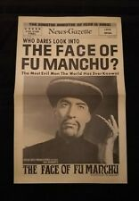 The Face of Fu Manchu 1965 Tabloid Herald - Christopher Lee