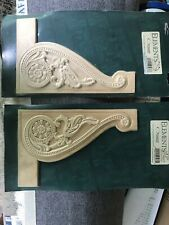 ELEMENTS Wood Carved Ornamental Mouldings Stair Decor Applique Left/Right Set