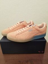 2016 Puma X Pink Dolphin Suede Classic Coral Pink Blue Men's Size 7.5