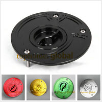 CNC Fuel Gas Cap For Kawasaki Ninja 650R ER6 2006-2009 Keyless with bolts