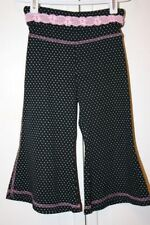JENNA JESSE 100% COTTON BLACK POLKA DOT CAPRI PANTS - Size Child 5