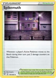 170/189 Spikemuth Trainer Uncommon Darkness Ablaze Pokemon Card