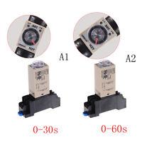 220V H3Y-2 Power On Time Relay Delay Timer 0-30s/60s DPDT & Base Socket BSN
