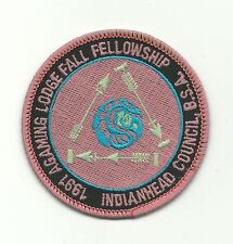 SCOUT BSA OA LODGE 257 AGAMING 1991 FALL FELLOWSHIP PATCH INDIANHEAD COUNCIL WWW