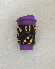 Handmade Reusable travel Coffee Cup Sleeve Batman eco friendly washable