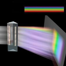 180x40mm Triangular Prisms BK7 Optical Glass Physics Teaching Refracted Light