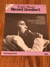 ELVIS PRESLEY RECORD BREAKERS SHEET MUSIC ~ COPYRIGHT 1957 ELVIS PRESLEY MUSIC