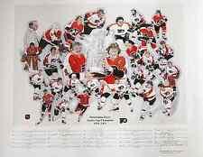 Philadelphia Flyers 1974-75 Stanley Cup  Autographed Lithograph   Schultz  Photo