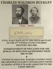 CIVIL WAR CHAPLAIN 47th US COLORED INFANTRY ALABAMA CONGRESSMAN AUTOGRAPH SIGNED