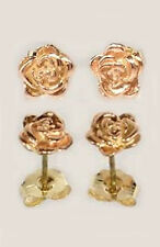 Handcrafted South Dakota Black Hills 12kt Gold Red Rose Studs King Croesus Lydia