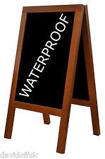 WOODEN BLACKBOARD CHALK BOARD A-BOARD PAVEMENT SIGN NEW WATERPROOF CODE HEAVY