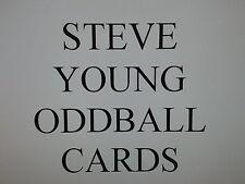 STEVE YOUNG ODDBALL cards $0.99 each SAN FRANCISCO 49ers