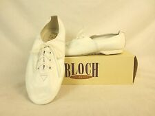 Bloch JazzFlex Leather Dance Shoes NEW Girls Size 12 White with laces 26F S0404G